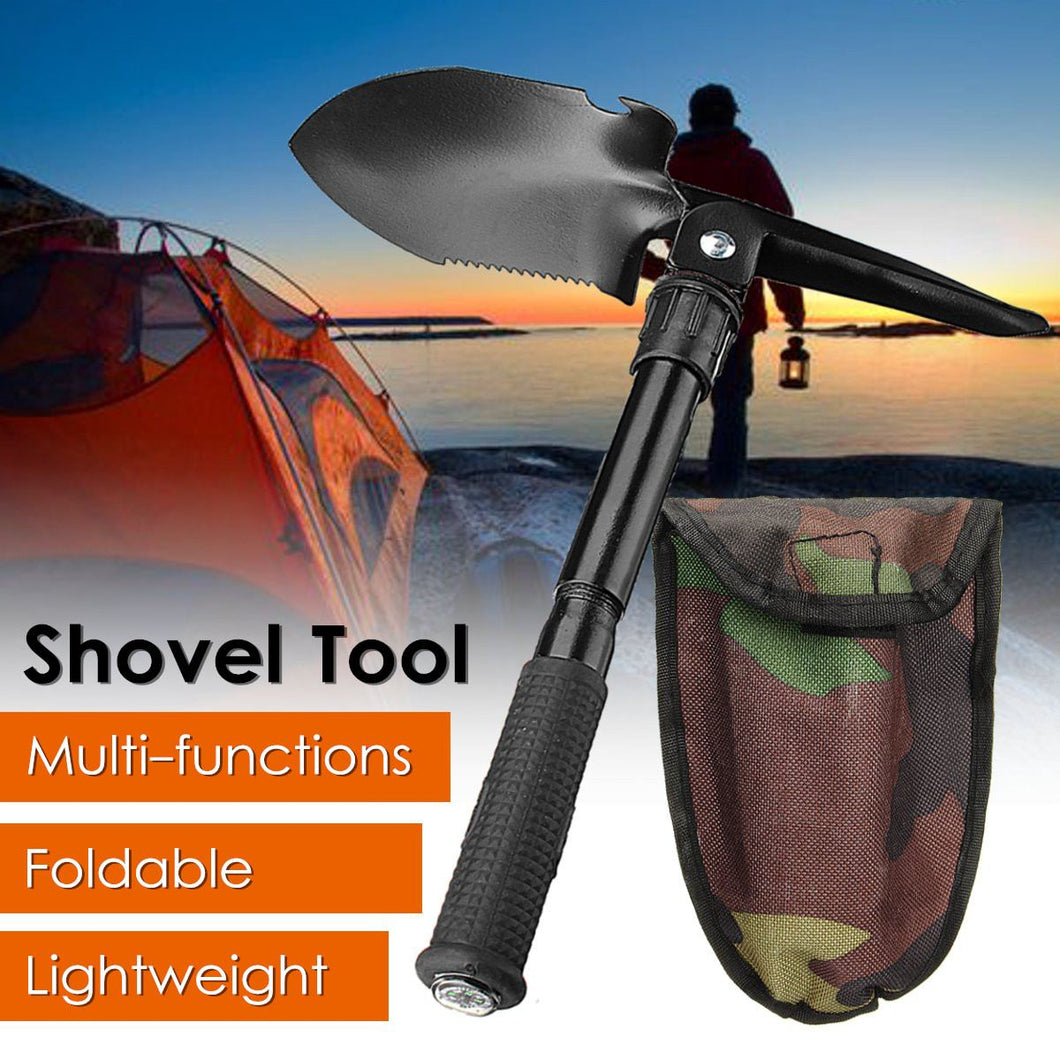 Folding Multifunction Shovel Survival Emergency Camping Shovel Axe Saw Gear Kit Tools Storage Bag Portable Garden Hand Tool
