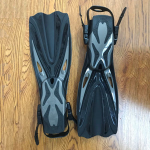 KEEP DIVING Open Heel Scuba Diving Long Fins Adjustable Snorkeling Swim Flippers Special For Diving Boots Shoes Gear