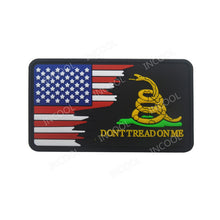 Load image into Gallery viewer, 3D PVC Patch Blue Line US Flag Don't Tread on Me Military Snake Morale Patch Tactical Badges Rubber Flags Patches Drop Shipping