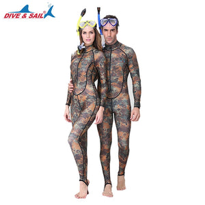 DIVE&SAIL One-piece Camouflage Rashguard Adults Dive Skin UPF50+ Wetsuit Swimwear for Diving Swimming Boating Snorkeling Surfing