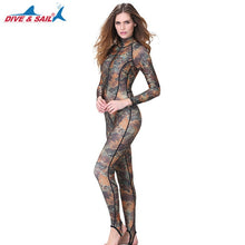 Load image into Gallery viewer, DIVE&SAIL One-piece Camouflage Rashguard Adults Dive Skin UPF50+ Wetsuit Swimwear for Diving Swimming Boating Snorkeling Surfing