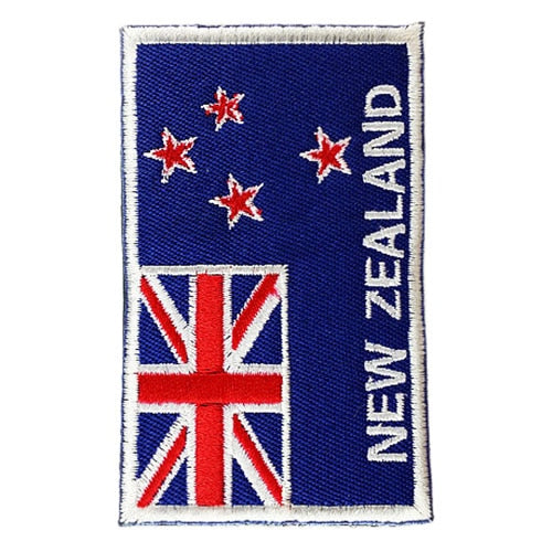 Practical National Flag Embroidery 3D Badge Patch Military Armband  Backside Tactical Patches New Zealand