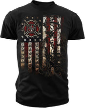 Load image into Gallery viewer, Military T Shirts Crew Neck Men Short Graphic Ink Men'S Firefighter American Flag T Shirt Hot Sales Desig Tees