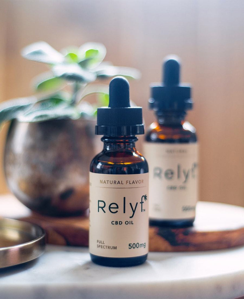Relyf 500mg CBD Oil Tincture Natural Full Spectrum