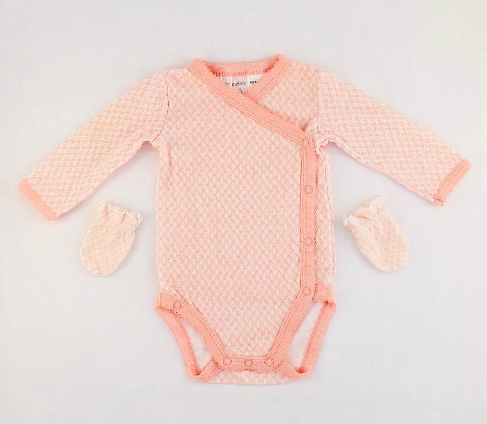 Carter's Baby Girl Coral Bodysuit Set
