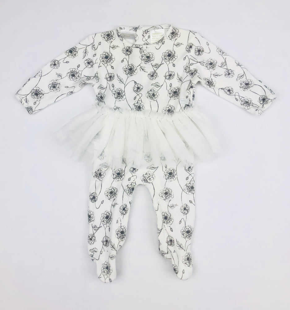 Kardashian Kids Girl Floral Jumpsuit with Tutu