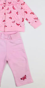 Funky Babe Pink Hearts and Butterflies Trackies Set