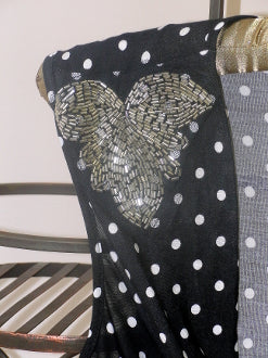 Polka Dot Top - detail black
