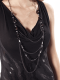 Black Dress with Detachable Necklace 4