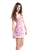 Pink polka dot dress 2