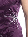 Strapless Dress with Crystal Accents 4