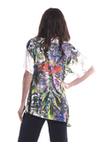 Tunic top with red flower in multi colors 3