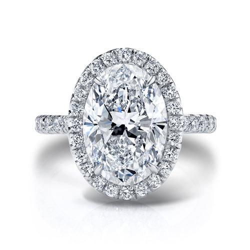 5 Carat Oval Halo Engagement Ring