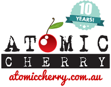 Atomic Cherry Logo - 10 years