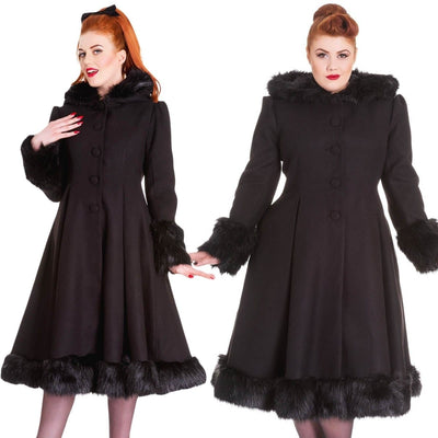 Image of [Special Order] Hell Bunny Elvira Coat - Black (July)