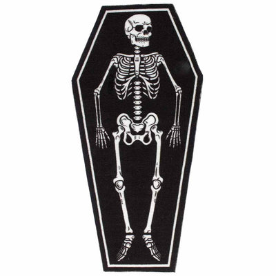 Image of Sourpuss Skeleton Coffin Door Mat