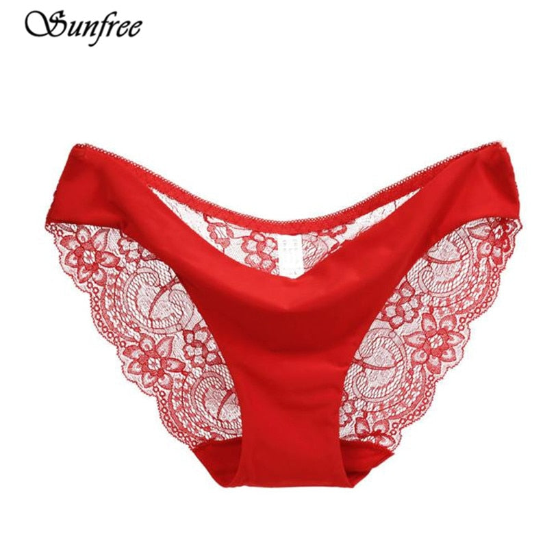 S-2XL!Hot sale! l women's sexy lace panties seamless cotton breathable panty Hollow briefs Plus Size girls underwear #LK4355-modlily