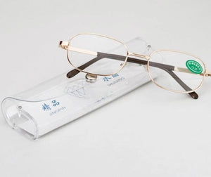 Full Metal Frame Glass Lenses Female Male Reading Glasses Women Men Unisex Eyewear +1.0 1.5 2 2.5 3 3.5 4 4.5 5 5.5 6-modlily