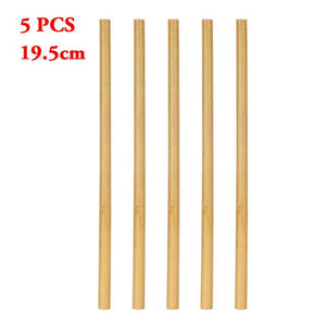 1/5PCS Eco-Friendly Cocktail Drink Straw Bamboo Drinking Straws Party Birthday Wedding Reusable Wood Cocktail Straws Tableware-modlily