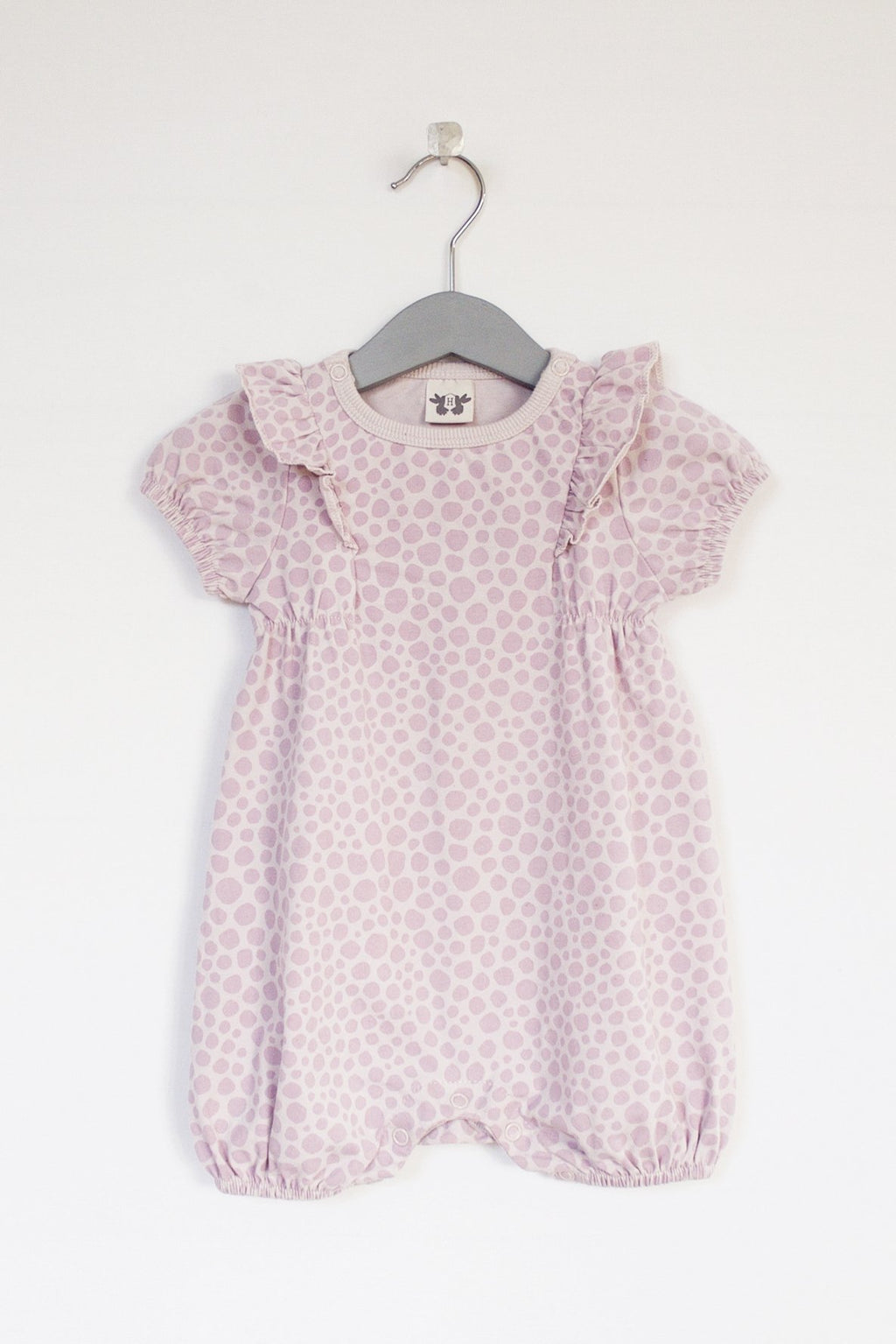 IRIS Playsuit / Onesie short sleeve - print pink