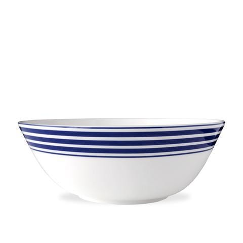 Blue Stripe Medium Serving Bowl