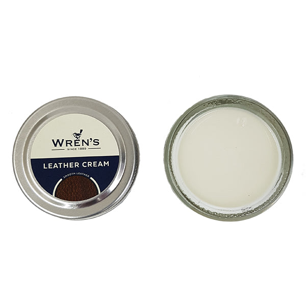 Wrens Leather Cream Jar
