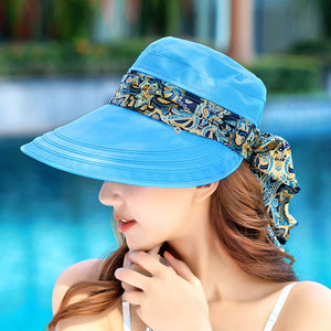 Women's Protective Hat Outdoor Sun Cap Sun Protection Neck Face Anti-UV Wide Brim Visor Summer Hot Sale