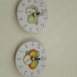"4"" ASST. FRUITS HANGING CLOCK"