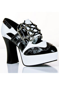 "4"" Heel Gangster Brass Knuckle Platform Shoes"