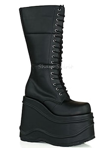 Lace Up Platform Rave Gothic Festival Grunge Cyber Cosplay Womens Boots