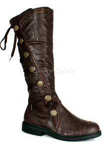Pirate Warrior Soldier Combat Military Gothic Mens Boots