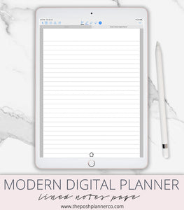 digital notebook lined
