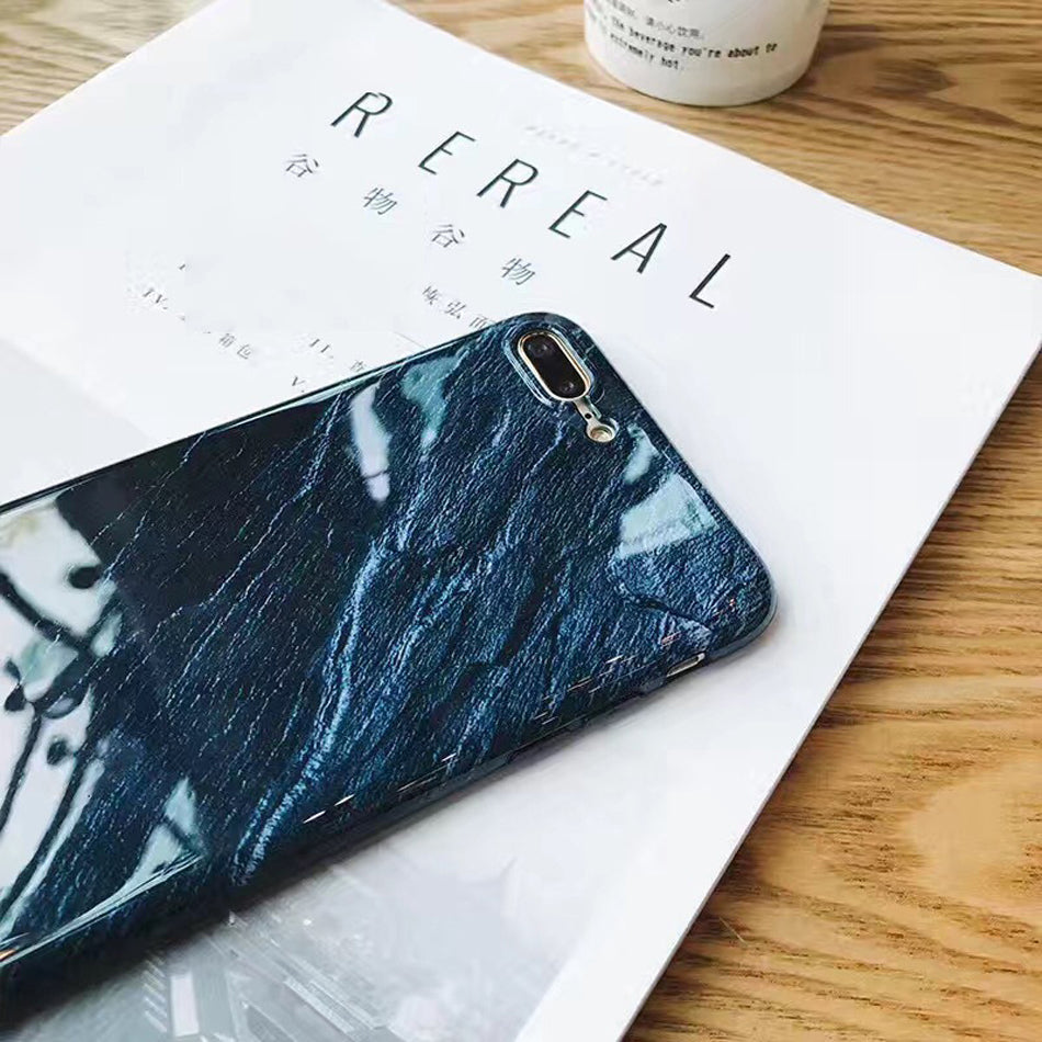 Deep Blue Stone IPhone Case - Modern Charme.