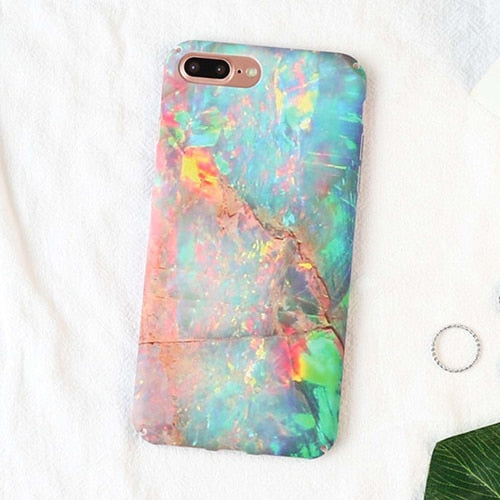 Bubble Gum Marble IPhone Case - Modern Charme.