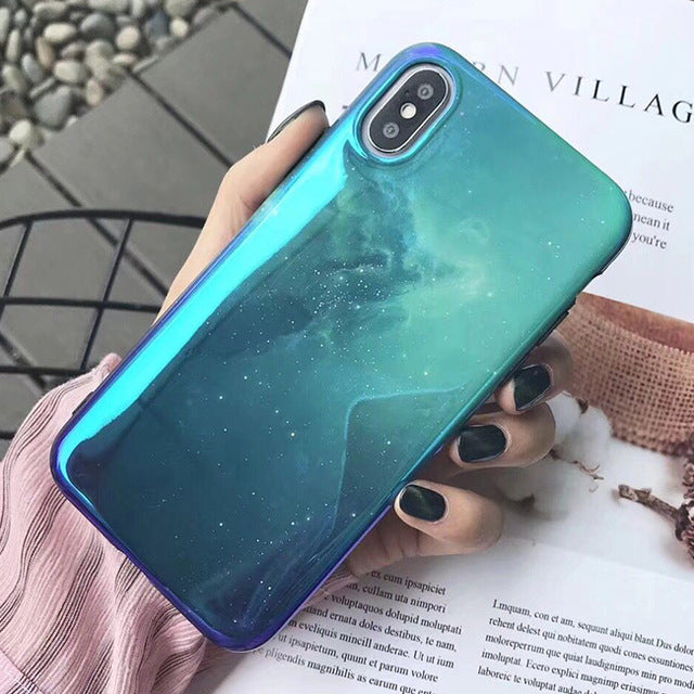 Blue Nebula IPhone Case - Modern Charme.