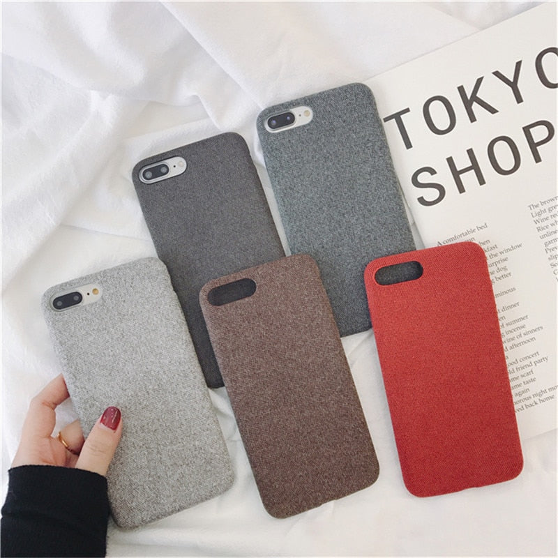 Cotton Textured IPhone Case - Modern Charme.