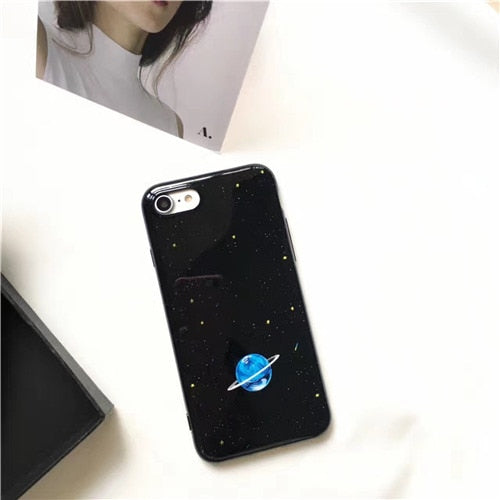 Shiny Blue Planet IPhone Case - Modern Charme.