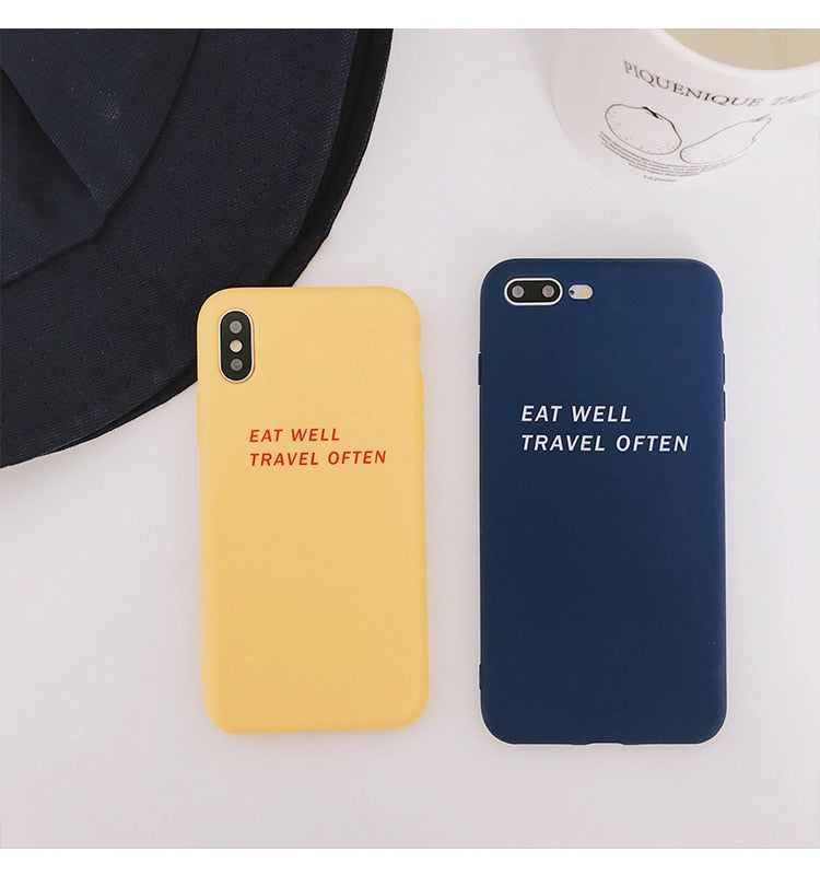 Eat Well Travel Often IPhone Case - Modern Charme.
