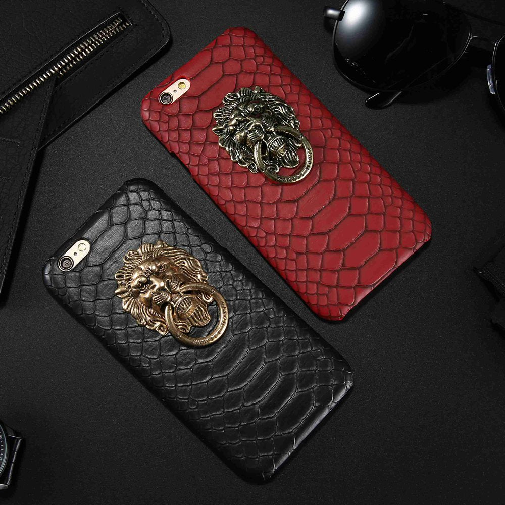 Textured Lion Ring Grip IPhone Case - Modern Charme.