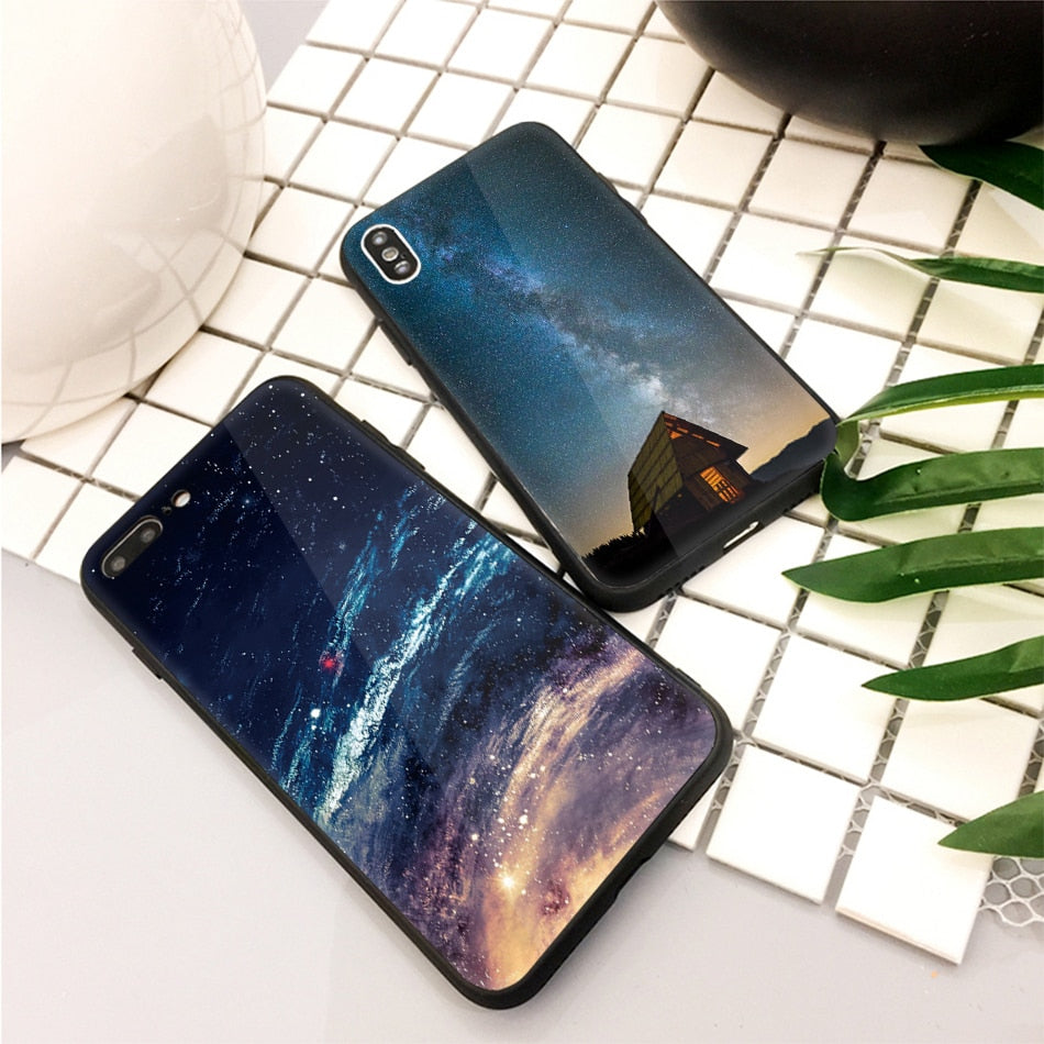 Starry Sky Tempered Glass IPhone Case - Modern Charme.
