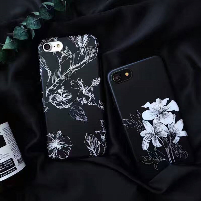 Floral Sketch IPhone Case - Modern Charme.