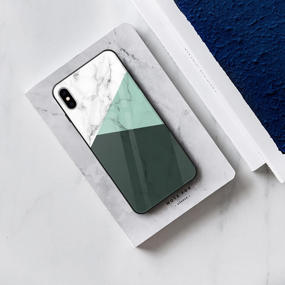 Geometric Marble IPhone Case - Modern Charme.