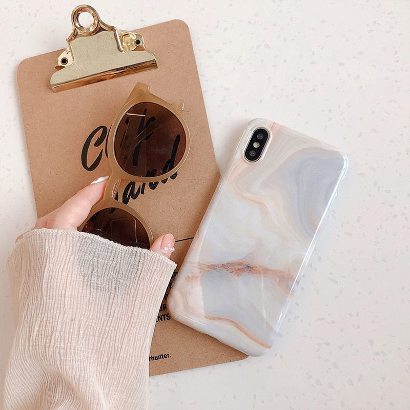 Flowing Marble IPhone Case - Modern Charme.