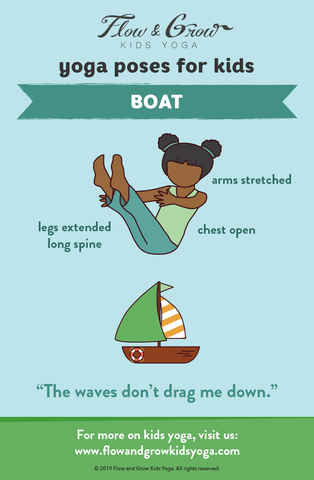 Yoga Poses for Kids: Boat Pose