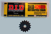 D.I.D 428HD Chain,16 tooth front sprocket combo