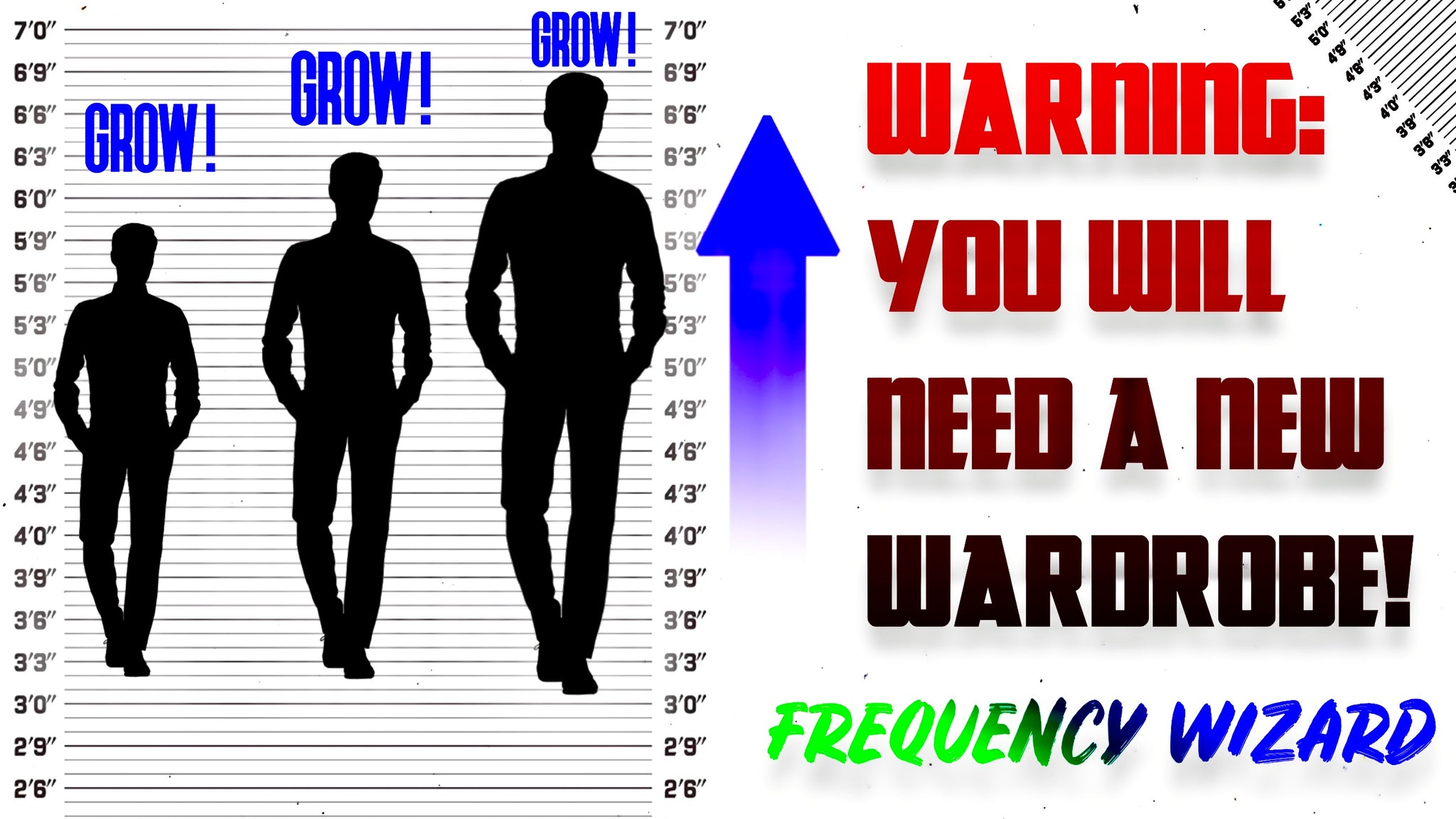 THE BEST GROW TALLER FORMULA SO EVER CREATED SO FAR! INCREASE YOUR HEIGHT FAST! - FREQUENCY WIZARD