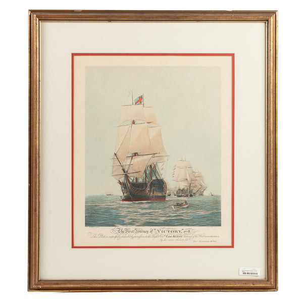 Nautical Clipper Ship Print Set