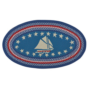 Hyport Sailboat: Colonial Braided Finish Rug