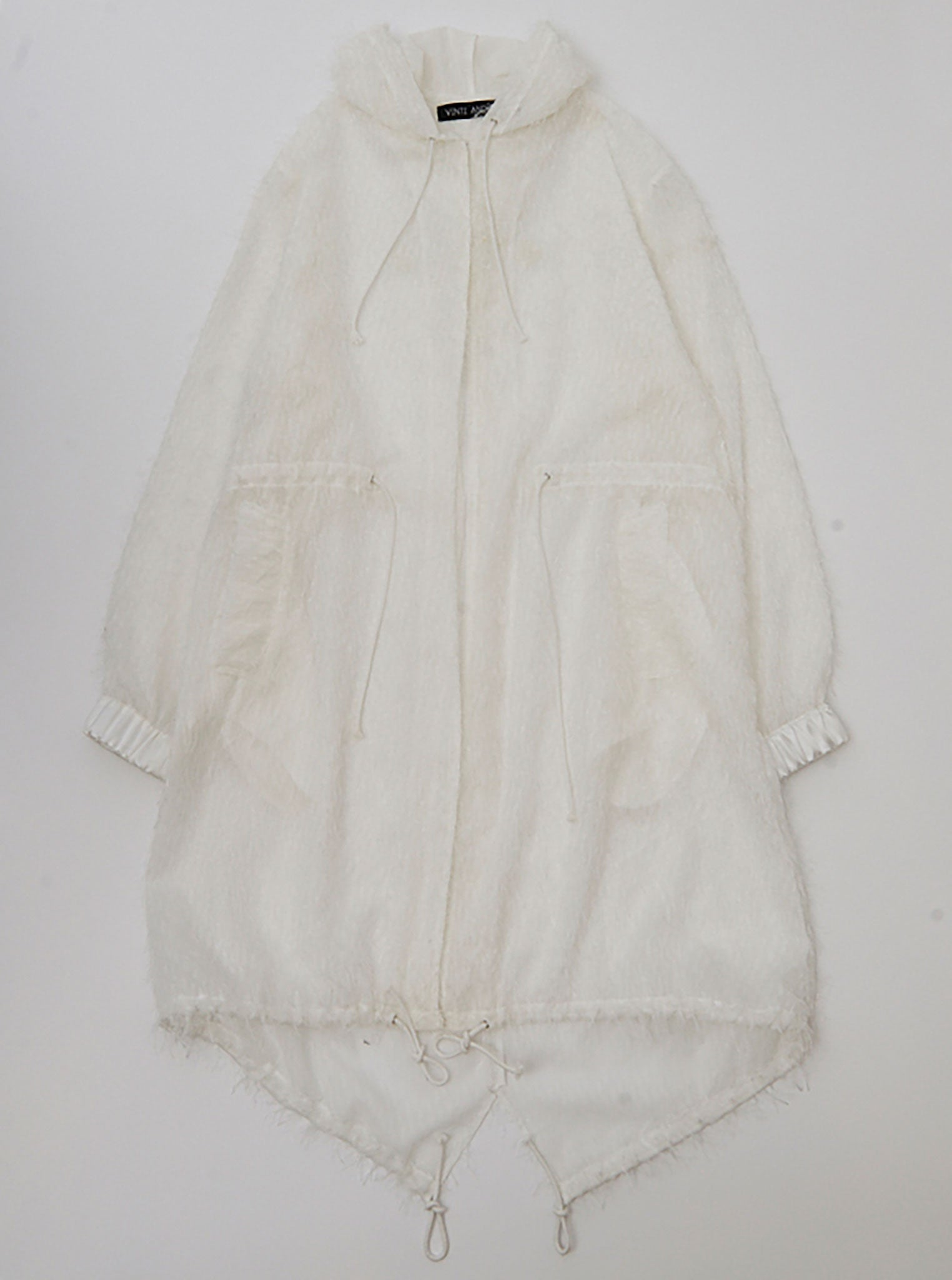 Vinti Andrews Yarn Organza Off White Parka