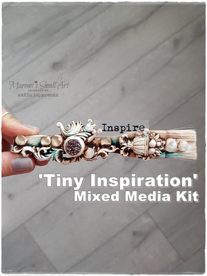 Tiny Inspiration /Altered Brush/ - Mixed Media Online Class + products KIT